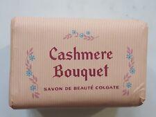 VINTAGE CASHMERE BOUQUET 3 SAVONS COLGATE PALMOLIVE 60'S 3 SOAPS PROMOTION