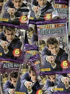 1x Panini Dr Doctor Who Alien Armies Cards Sealed Booster Pack Packet