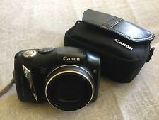 Canon PowerShot SX130 IS 12.1 MP Digital Camera - Black with black case