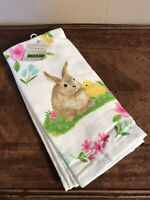 Bunny Rabbit Chick Kitchen Towels Set Easter Spring Garden New