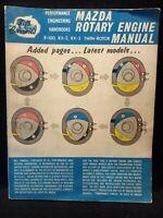 Bill Carroll's Mazda Rotary Engine Performance Manual Book R-100 RX-2 RX-3