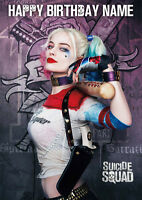 Suicide Squad Harley Quinn **Personalised Birthday Card** Any Name (SS7)