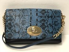 NWT COACH 36527 Crosstown Crossbody in NAVY BLUE Colorblock Exotic Leather $225