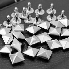 100 Pcs Punk Silver Pyramid Rivets Studs for Bag Shoes Belt-Hat Decoration New