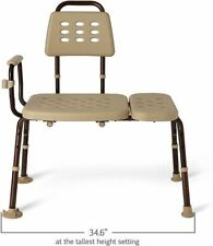 Medline Elements with Microban Medical Transfer Bench for Home Use with Antimicr
