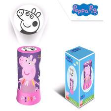 Peppa Pig Projektor LED Nacht lampe Licht lila rosa Kinder 20cm Batterie