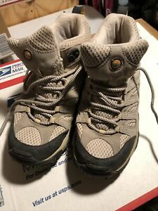 Merrell Waterproof Continuum Womens Waterproof Vibram Light Tan Hiking Boot Sz 7