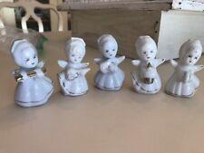 "Lot of 5 Vintage Christmas Angel Choir Figurine 3"" Tall"
