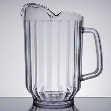 Choice 60 oz. Clear Plastic Round Beverage Pitcher w/ 3 Spouts 6903Waycl