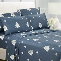 American Home Collection 1800 series Christmas 6 Piece Bed Sheet Set Silky Soft