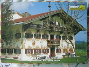 """VINTAGE CHAD VALLEY """"BAVARIAN HOUSE"""" 500 PIECE JIGSAW PUZZLE."""