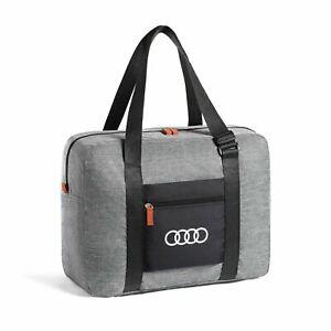 Audi Foldable Travel Bag Gray 40L Polyester 3152000100 Genuine New
