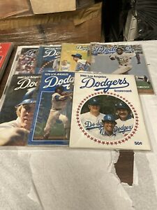 7 Program Lot 1970's & 1980's Los Angeles Dodgers Monday, Baker, Russell Nice #5