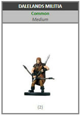 D/&D Miniatures Dungeons /& Dragons 24 Dalelands Militia Promo C4 LC7
