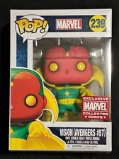 Brand New Funko Pop! #239 VISION (Avengers #57) Marvel Collector Corps Exclusive