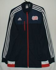 Adidas New England Revolution MLS Soccer Long Sleeve Track Jacket Size L Sports
