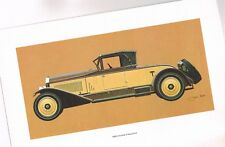 1923 Isotta Fraschini Lithograph ? Print ? Painting ? Picture for Framing