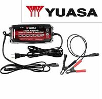 YUASA 3 Amp Battery Charger And Maintainer Repair 6ft Cable OEM Approved