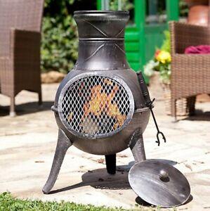 La Hacienda Panama Chimenea Log Burner - Garden Patio Heater Fire Pit Chiminea