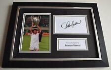 Franco Baresi Signed A4 FRAMED photo Autograph display AC Milan Football COA