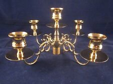 BALDWIN BRASS Candelabra 5 Candle Candlestick Insert ONLY with 4 Arms EXCELLENT