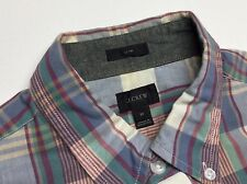 J.Crew Slim Fit Summer wash plaids shirt -Medium- L/S shirt button up EUC