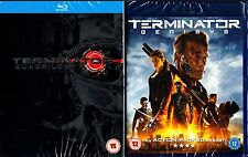 TERMINATOR 1,2,3,4 & 5 HI-DEF BLU RAY SET 5 DISCS 1984-2015 NEW AND SEALED!