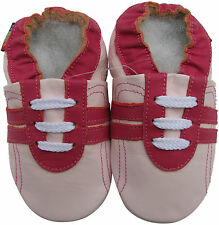 shoeszoo sports fuchsia pink 2-3y S soft sole leather toddler shoes