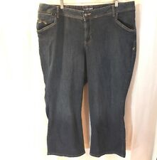 "Lane Bryant Capri Jeans Size 22 Medium/Dark Wash Cropped 23"" inseam"