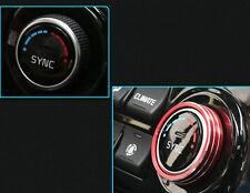RED Car Interior Air Conditioning +Sound Knob Cover for KIA Sportage QL 2016