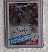 Matt Beaty Auto Los Angeles Dodgers Topps Baseball 2020 35th Anniversary...