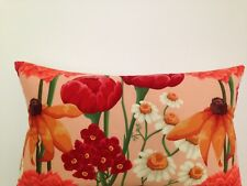 Daisy Orange Garden Peach Skin Outdoor Indoor  floral Lumbar Retro Cushion Cover