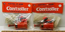 2pc Vintage TRADESHIP 1/24 1/32 Slot Car STANDARD CONTROLLER +Alligator Clips!
