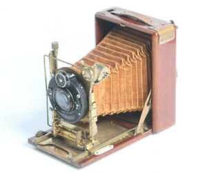 Plattenkamera Tropenkamera Wodden Holz mit Rathenow POLOLYT 3,9/10,5