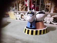 Police Dog & Robber Porcelain  Salt and Pepper shaker Set