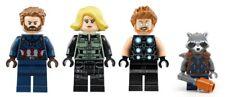 LEGO Avengers Captain America, Black Widow, Thor, Rocket Raccoon - Mini Figures