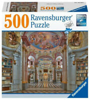 Ravensburger Admont Abbey Library 500 Piece Jigsaw Puzzle Free Shipping Sealed