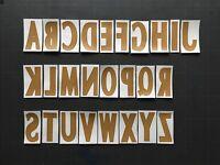 LETTER / LETTRE LFP LIGUE 1 FLOCAGE TRANSFERT MONBLASON ALPHABET (WHITE/GOLD)