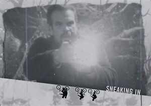 Stranger Things Upside Down, Black Printing Plate Card (23) Sneaking In 1/1