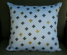 White, Grey & Gold Cross Designer Cushion Cover