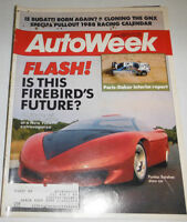 Autoweek Magazine Pontiac Banshee & Paris-Dakar January 1988 080814R