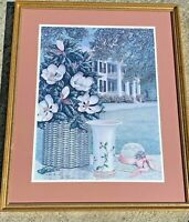 SOUTHERN BELLE Magnolia Plantation House in the South SIGNED NUMBERED Framed ART