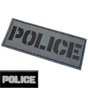 IR Police wolf gray morale 2x5 SWAT chest rig plate carrier hook-and-loop patch