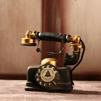 Vintage Rotary Telephone Statue Antique Shabby Chic Old Phone Figurine Decor