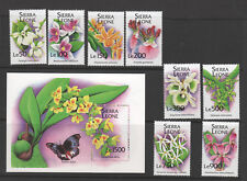 SIERRA LEONE 1741-50 ORCHIDS souvenir sheet and stamps VFNH complete set