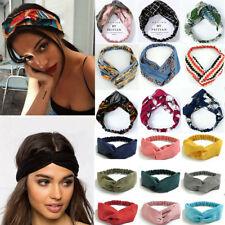 Stretchy Cross Knot Head Wrap Boho Headband Knotted Floral Hairband Hair Band