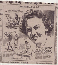 1941 newspaper panel - New First Lady of Golf, Betty Jameson of Texas