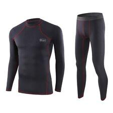 Men Thermal Underwear Set Winter Skiing Warm Top & Bottom Long Johns Thermo