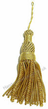 Gold Mylar Bullion Tassel for Cap, Costume, Dress or Fancy Use HE-TS101