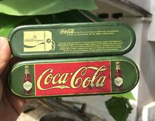 """Vintage 1997  COCA COLA Pencil Metal Case Box  7""""  Rare and  Hard to FIND !!!"""